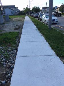 new sidewalk